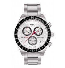 Tissot PRS 516 Silver Quartz Chronograph Steel Men's Watch