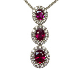 Spark Creations Ruby and Diamond Pendant