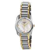 Tissot T-Wave Mother of Pearl Dial Two-tone Ladies Watch
