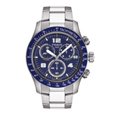 Tissot V8 Men's Blue Quartz Chronograph Watch